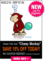 Chewy Chimp  Vinyl Decal, Graphic, Bumper Sticker.